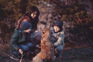 Children-and-dog